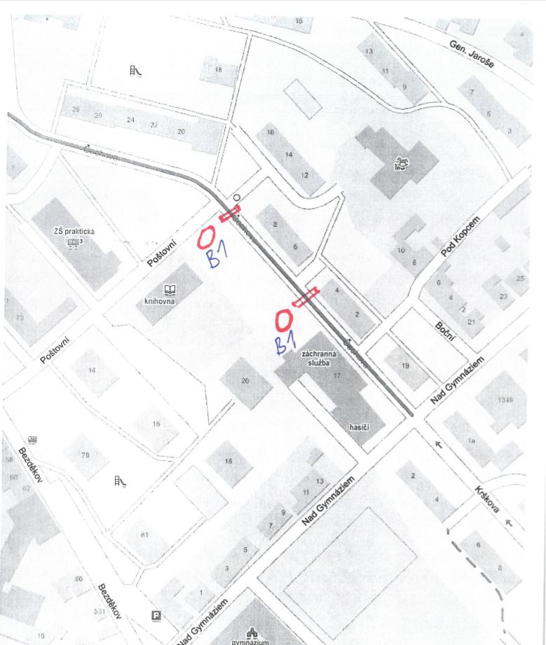 Ulice Čechova bude v pondělí na 10 hodin neprůjezdná